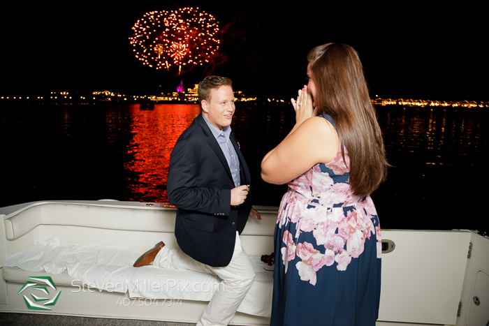 Disney Fireworks Surprise Proposal Photographers | Orlando Wedding Photographer