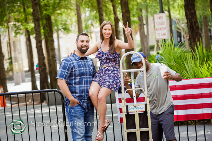 Patriotic Orlando Engagement Session Photographers Downtown