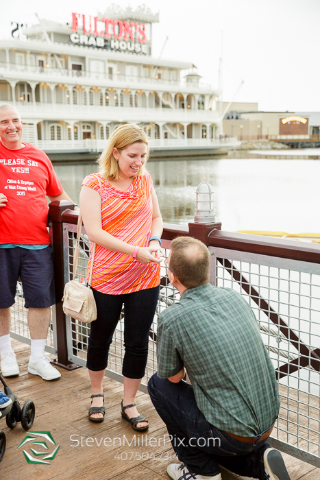 Surprise Orlando Proposal at Downtown Disney