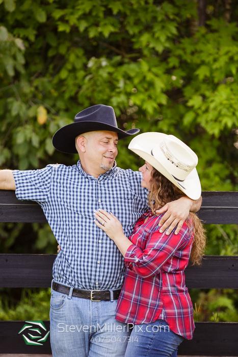 Sanford Horse Farm Engagement Photographer