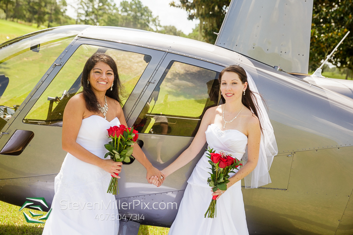 Helicopter Orlando Weddings LGBT Same Sex Photographer