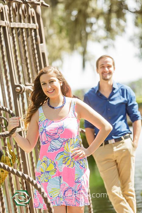 Engagement sessions at Bok Tower Gardens