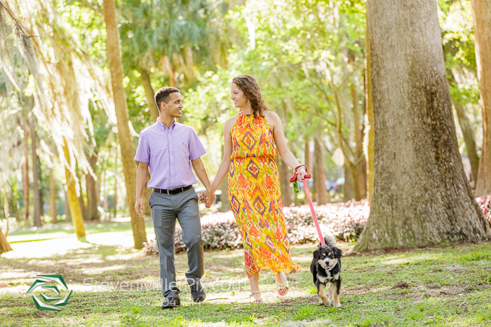 Winter Park Engagements at Kraft Azalea Gardens