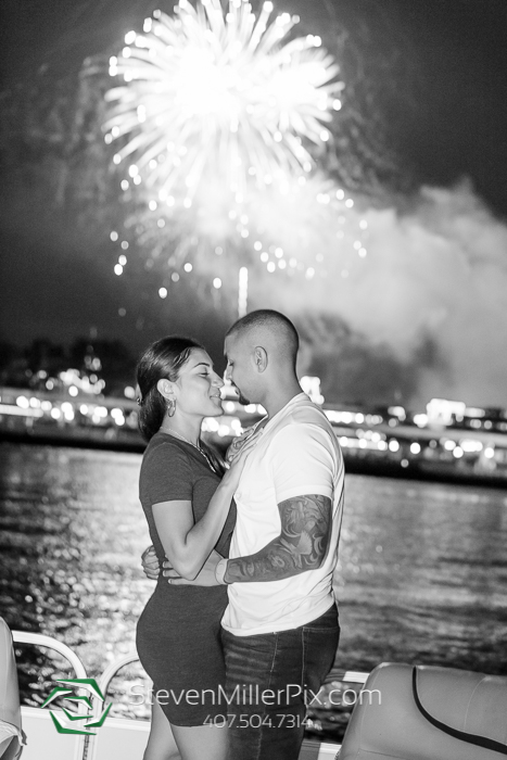 Surprise Proposal on Disney's Fireworks Cruise!