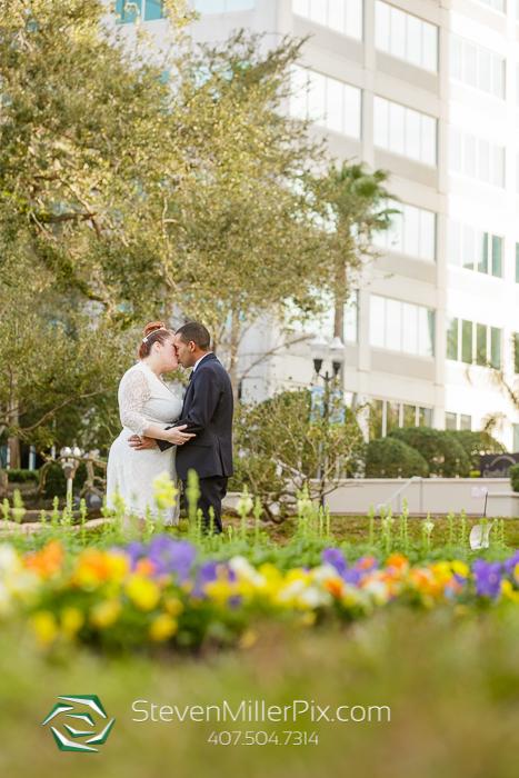 Intimate Courthouse Downtown Orlando Wedding Photographers
