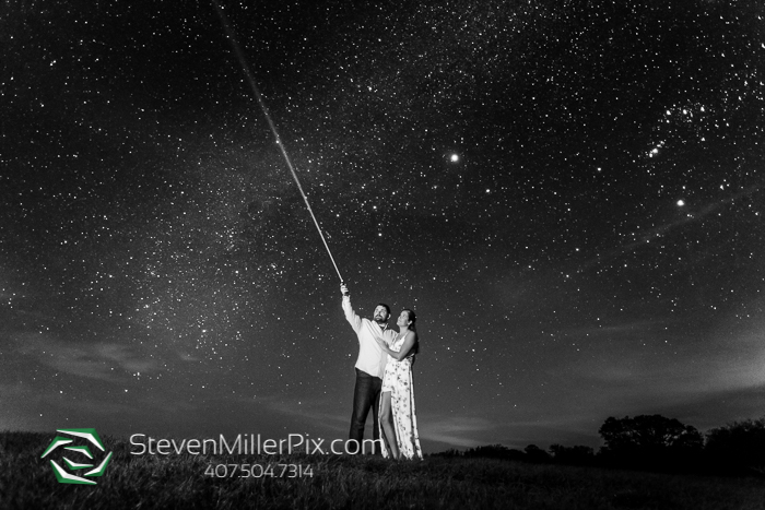 Dark Sky Starry Night Engagement Photographer