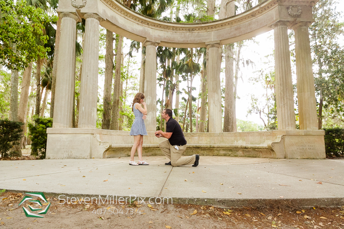 Winter Park Engagement Proposal Photographers Kraft Azalea Gardens
