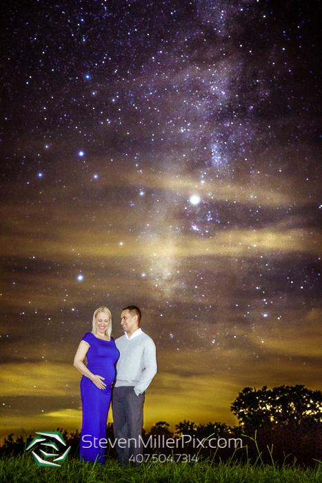 Kissimmee Prairie Night Sky Maternity Photos