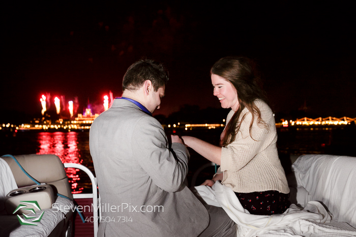 Surprise Disney Fireworks Proposal Photographers Orlando