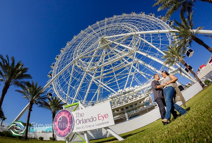 The Orlando Eye Engagement Wedding Photographer
