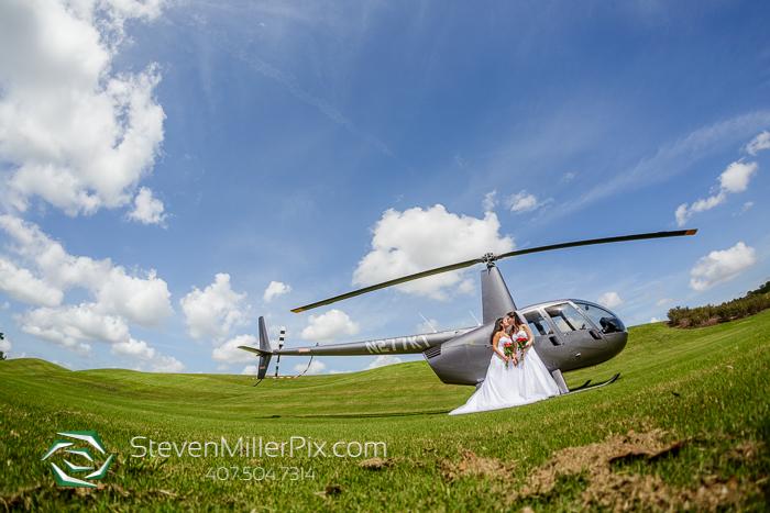 Helicopter Orlando Weddings LGBT Same Sex Photographer