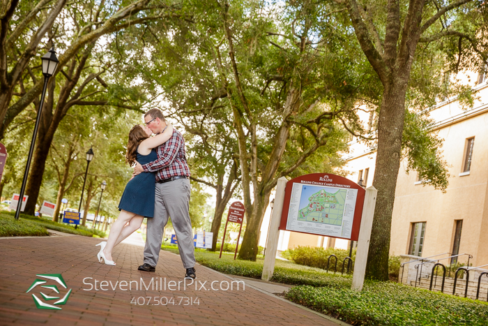 Engagement Photos at Rollins College Orlando