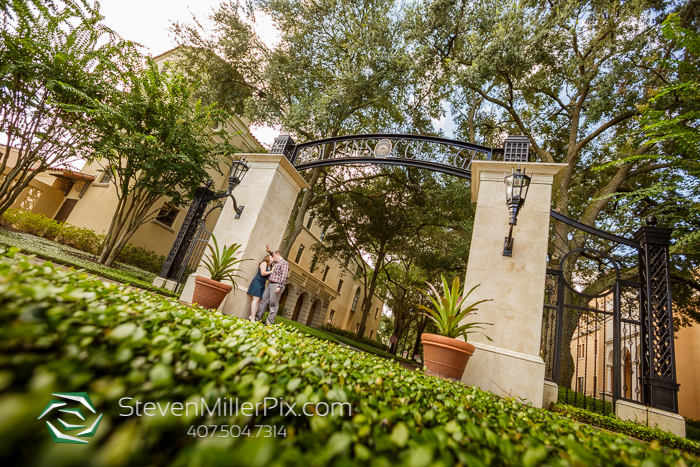 Engagement Photos at Rollins College Orlando
