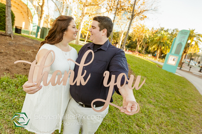 Downtown and Lake Eola Engagement Photographers