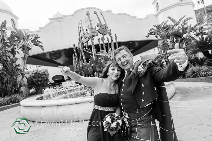 Intimate Destination Wedding at Hard Rock Hotel Universal Orlando