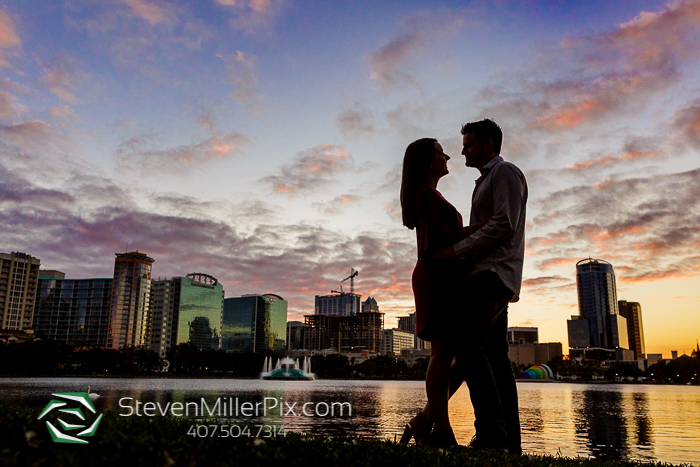 Lake Eola Downtown Engagement Sessions