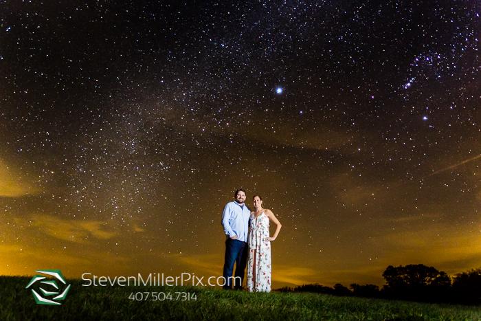 Dark Sky Starry Night Engagement Photographer