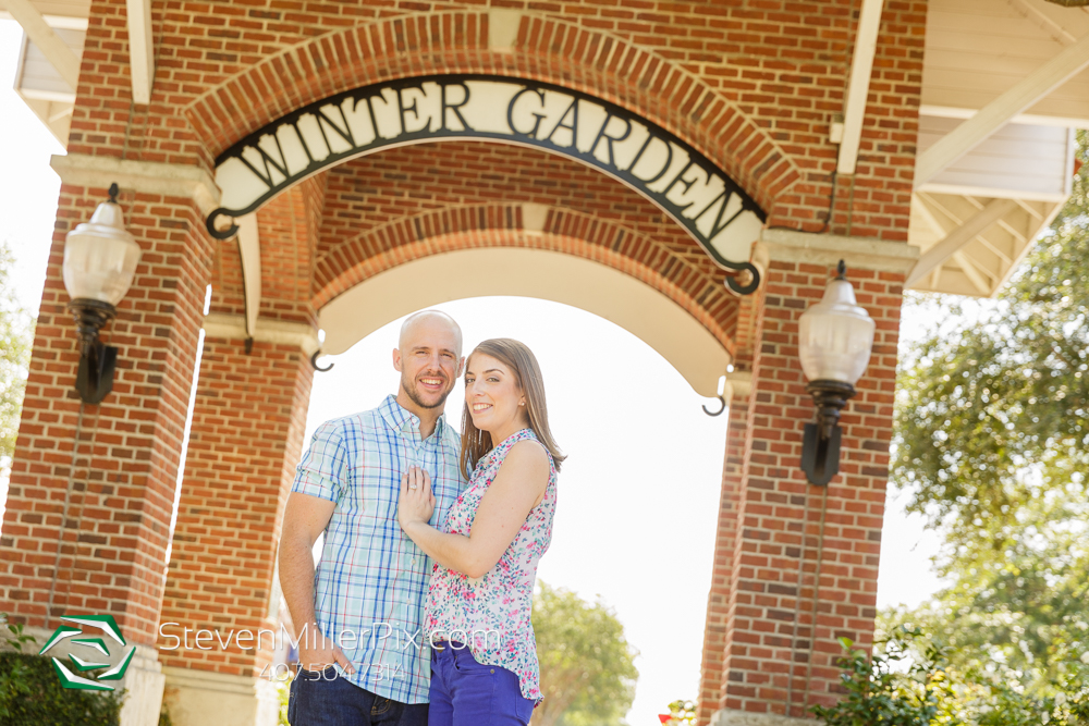 Winter Garden Plant Street Engagement Photographers