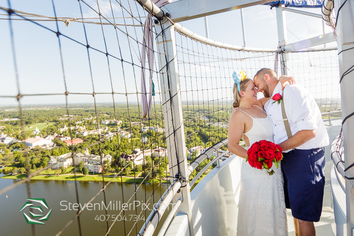 Disney Springs Balloon Ride Wedding Photographers