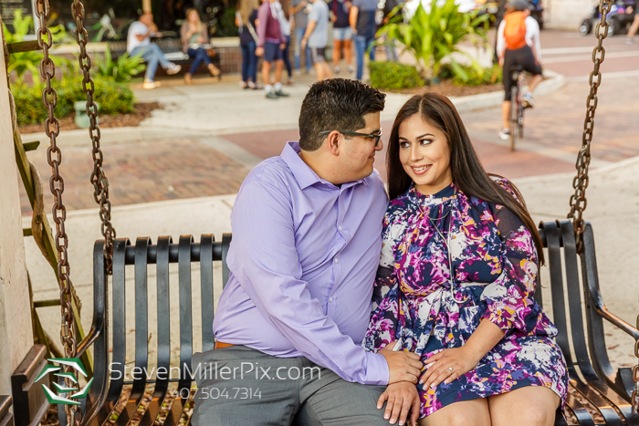 Engagement Session at Winter Garden Plant Street