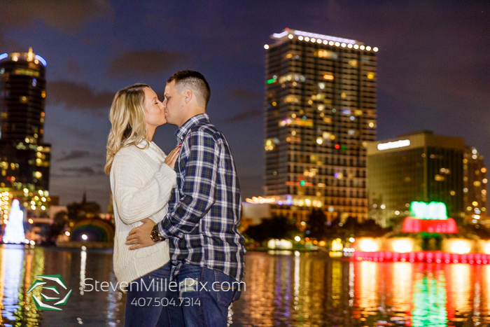 Lake Eola Engagement Session Downtown Orlando