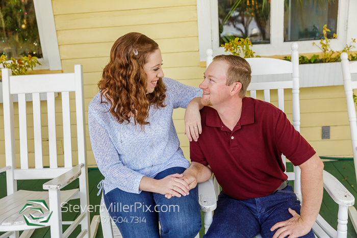 Downtown Mt. Dora Engagement Session Photography