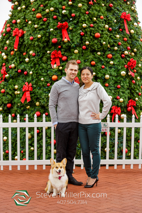Orlando Christmas Surprise Proposal Photography Session
