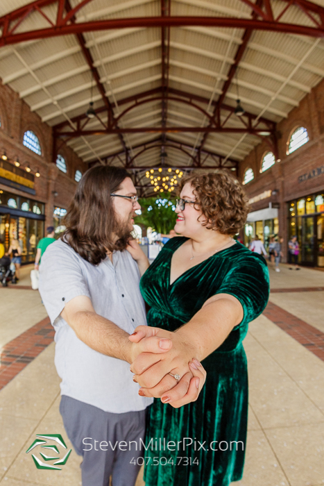 Disney Springs Orlando Engagement Photographers