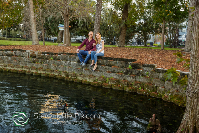 Lake Eola Park Downtown Orlando Engagement Photographers