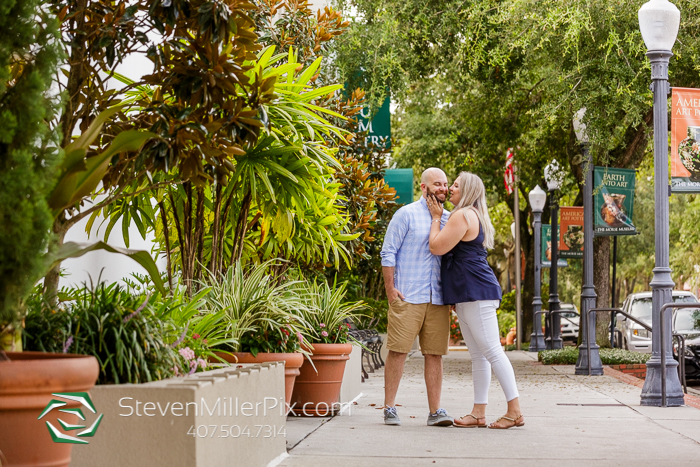 Park Avenue Winter Park Engagement Session