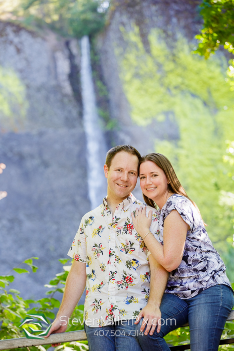 Latourell Falls Oregon Engagement Photos