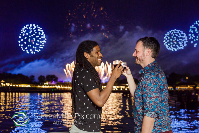 Seven Seas Lagoon Surprise Disney Halloween Fireworks Proposal