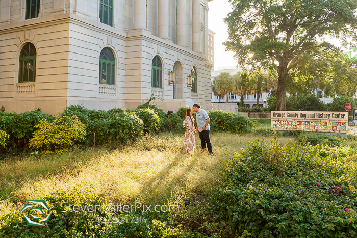 Downtown Orlando Lake Eola Park Engagement Photographers