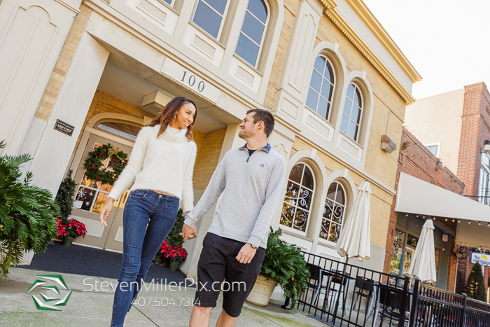 Plant Street Winter Garden Engagement Photos