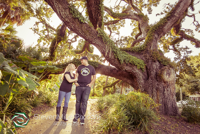 Downtown Orlando Lake Lawsona Engagement Photographers