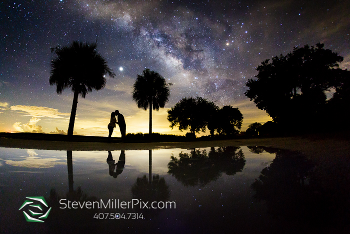 Florida Starry Night Engagement Photos