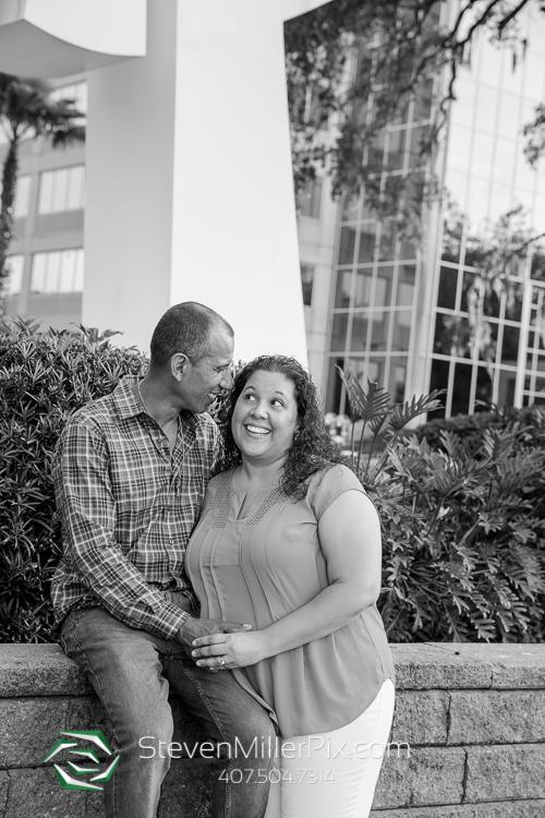 Orlando Lake Eola Engagement Photographer