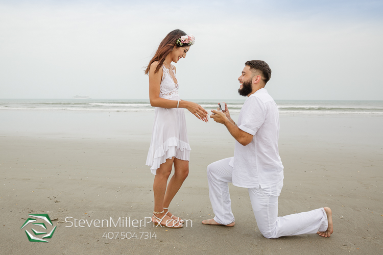 Surprise Proposal Cocoa Beach Florida